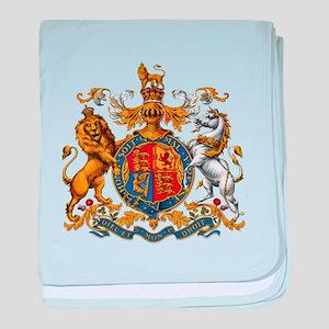 British Royal Coat of Arms baby blanket