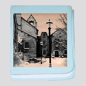 vintage church street light baby blanket