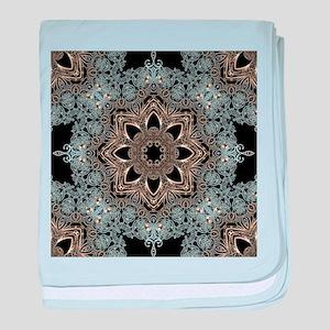 bohemian floral mandala hipster baby blanket