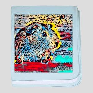 Color Kick -guinea pig baby blanket