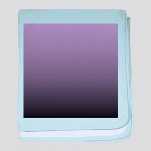 black purple ombre baby blanket