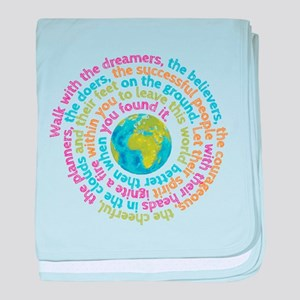 Walk with the dreamers baby blanket