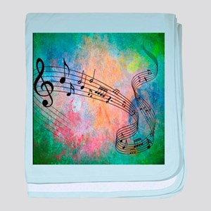 Abstract Music baby blanket