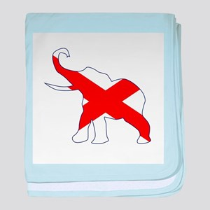 Alabama Republican Elephant Flag baby blanket