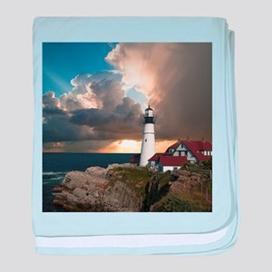 Lighthouse Lookout baby blanket