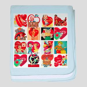 vintage valentines day cards feb baby blanket