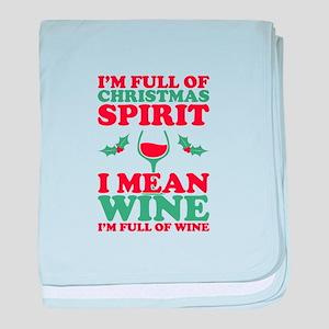 Christmas Wine baby blanket