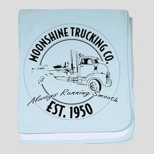 Moonshine hauling truck baby blanket