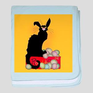Happy Easter - Le Chat Noir baby blanket