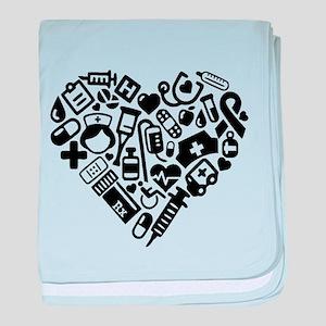 Nurse Heart baby blanket