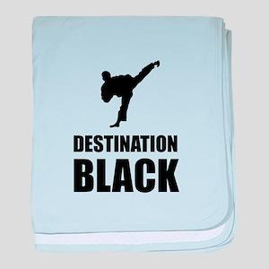 Destination Black baby blanket