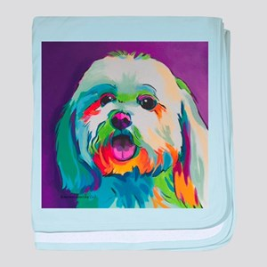 Dash the Pop Art Dog baby blanket