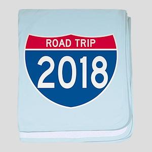 Road Trip 2018 baby blanket