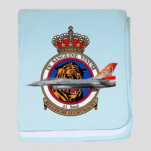 31sqn_f16_falcon baby blanket