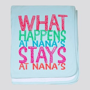 What Happens at Nana's baby blanket