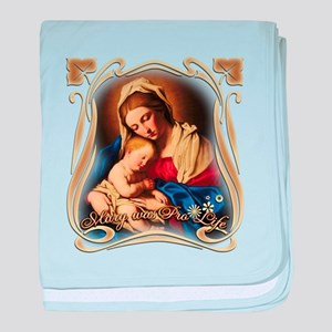 Mary was Pro-Life (square) baby blanket