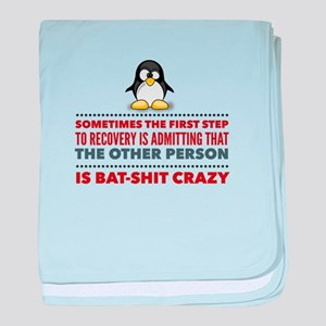 Other People Are Crazy baby blanket