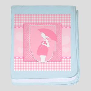 pink pregnancy baby blanket