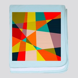 Mid Century Modern Geometric baby blanket