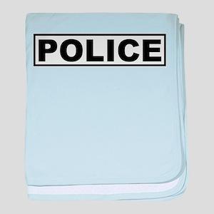 Police baby blanket