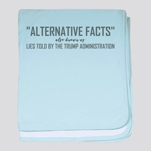 ALTERNATIVE FACTS baby blanket