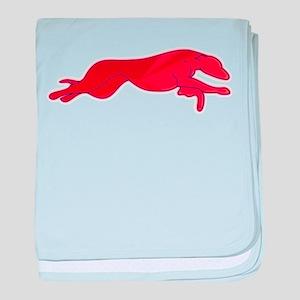 Greyhound Outline multi color baby blanket