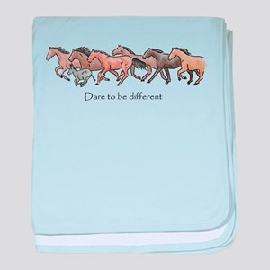 dare to be different baby blanket