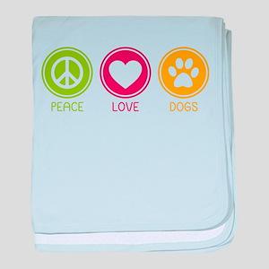 Peace - Love - Dogs 1 Infant Blanket