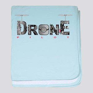 Drone large baby blanket