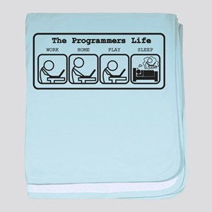 Unique The programmers life baby blanket