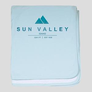 Sun Valley Ski Resort Idaho baby blanket