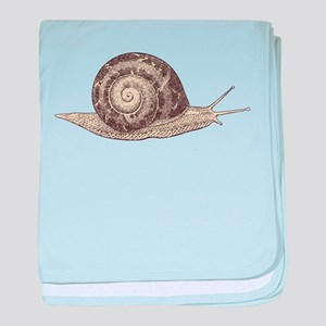 Hand painted animal snail baby blanket