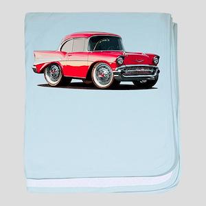 BabyAmericanMuscleCar_57BelR_Xmas_Red baby blanket