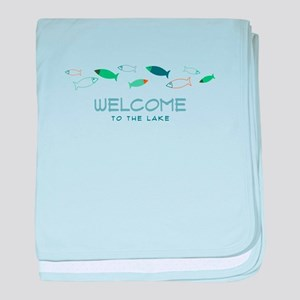 Welcome To Lake baby blanket