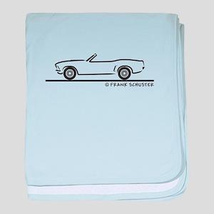 1969 Mustang Convertible baby blanket