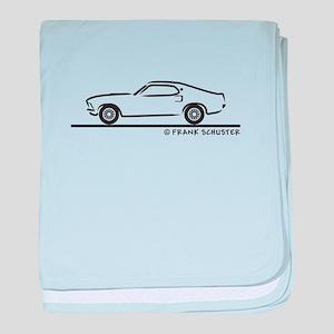1969 Mustang Fastback baby blanket