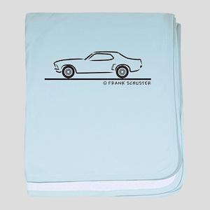 1969 Mustang Hardtop baby blanket