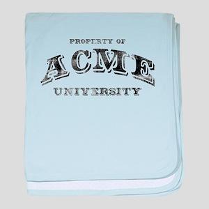 ACME University baby blanket