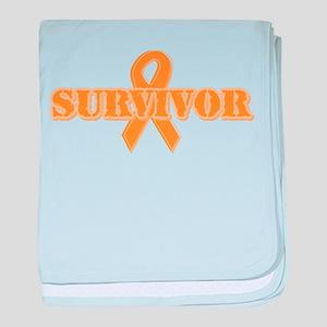 Orange Ribbon Survivor Infant Blanket