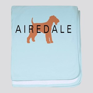 Airedale baby blanket