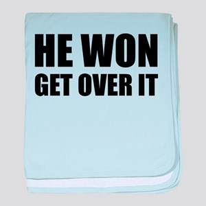 He Won Get Over It! Bold baby blanket