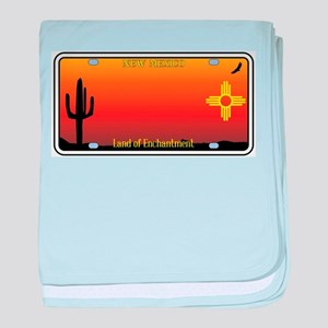 New Mexico License Plate baby blanket