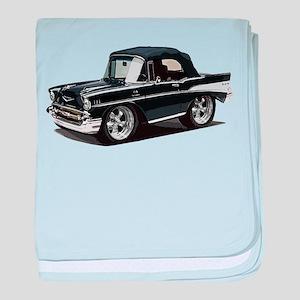 BabyAmericanMuscleCar_57BelR_Black baby blanket