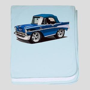 BabyAmericanMuscleCar_57BelR_Blue baby blanket