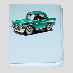 BabyAmericanMuscleCar_57BelR_Green baby blanket