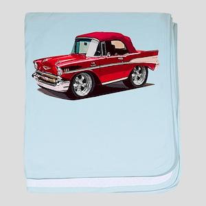 BabyAmericanMuscleCar_57BelR_Red baby blanket