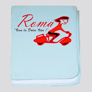 ROME SCOTTER GIRL baby blanket