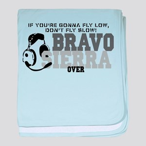 Bravo Sierra Avaition Humor baby blanket