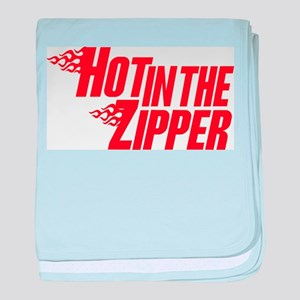 Hot in the Zipper baby blanket
