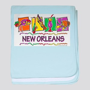 New Orleans Squares baby blanket